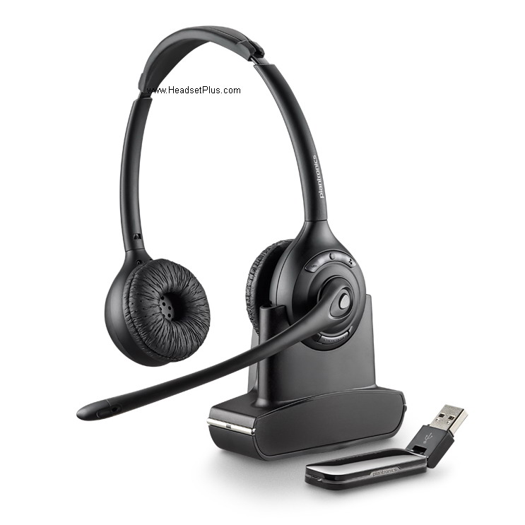 5cfcdee2715 Plantronics Savi W420 USB Wireless Headset Over-the-Head UC Standard ...