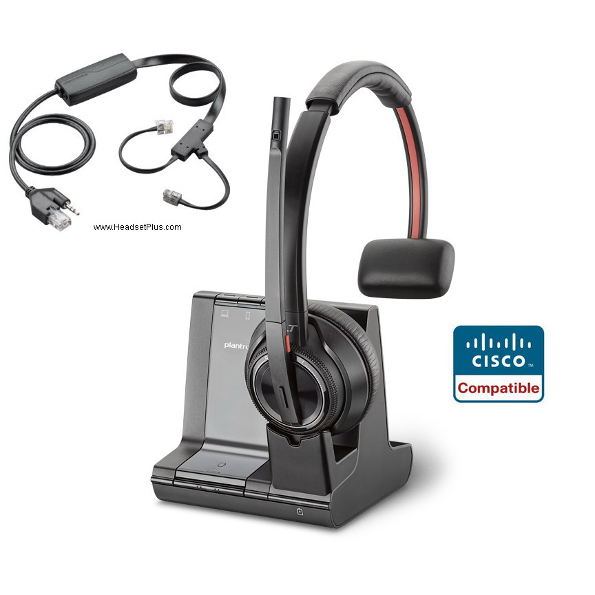 Plantronics Savi 8210 + EHS Wireless Headset for Cisco IP Phone