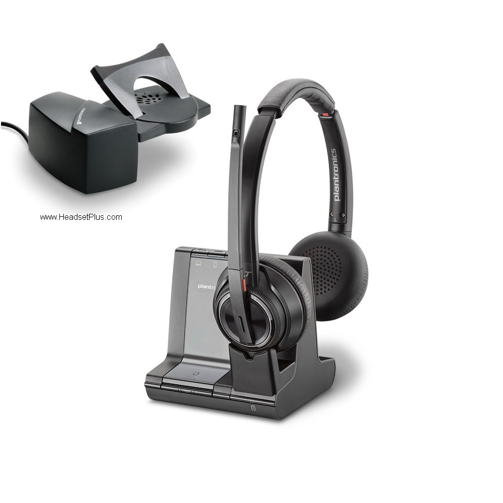 Plantronics Savi 8220 + HL10 Wireless Headset Lifter Bundle