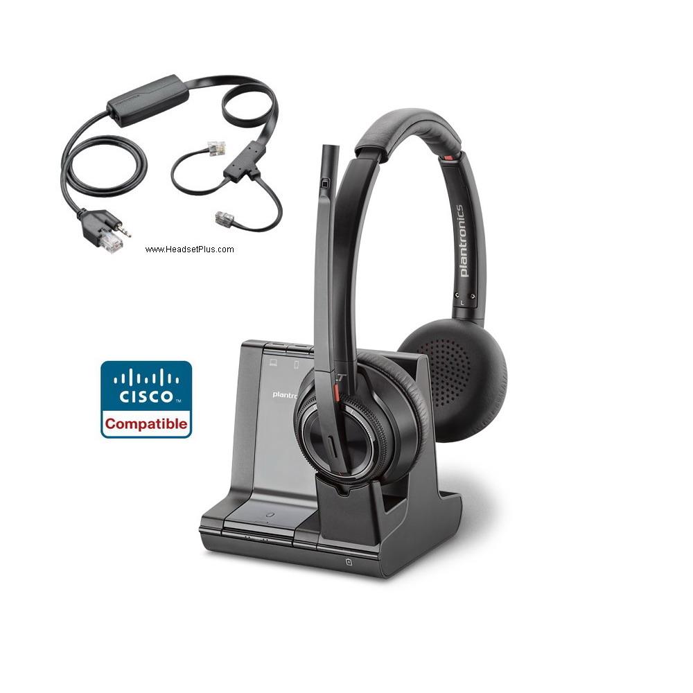 Plantronics Savi 8220 + EHS Remote Answer Bundle for Cisco Phone