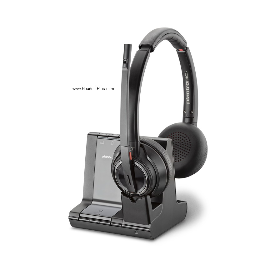 Plantronics Savi 8220 Binaural Wireless Headset 207325 01 8200 W8200b