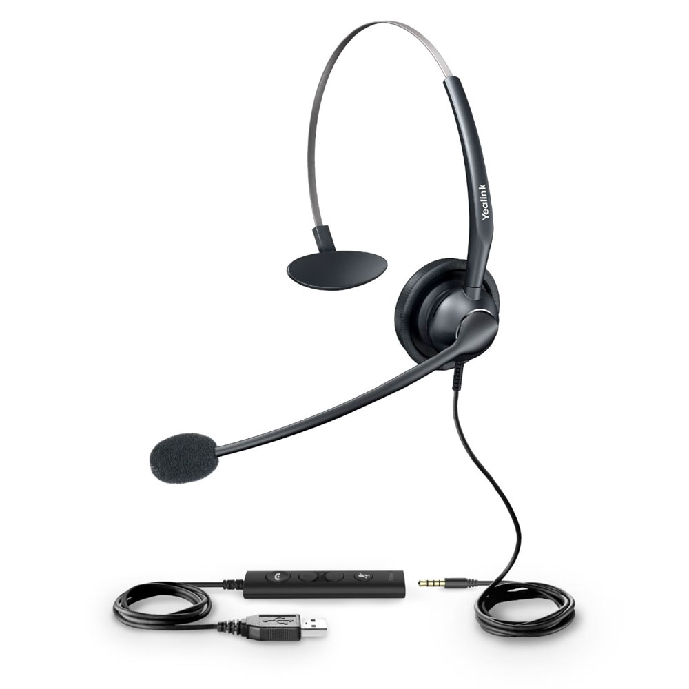 Yealink UH33 Mono USB-A w/3.5mm Computer Headset Microsoft Teams