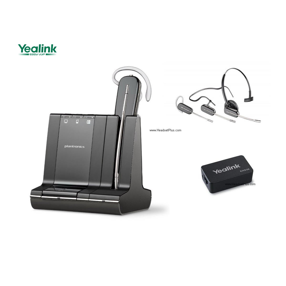 Plantronics Savi W740 + EHS Yealink Certified Wireless Headset