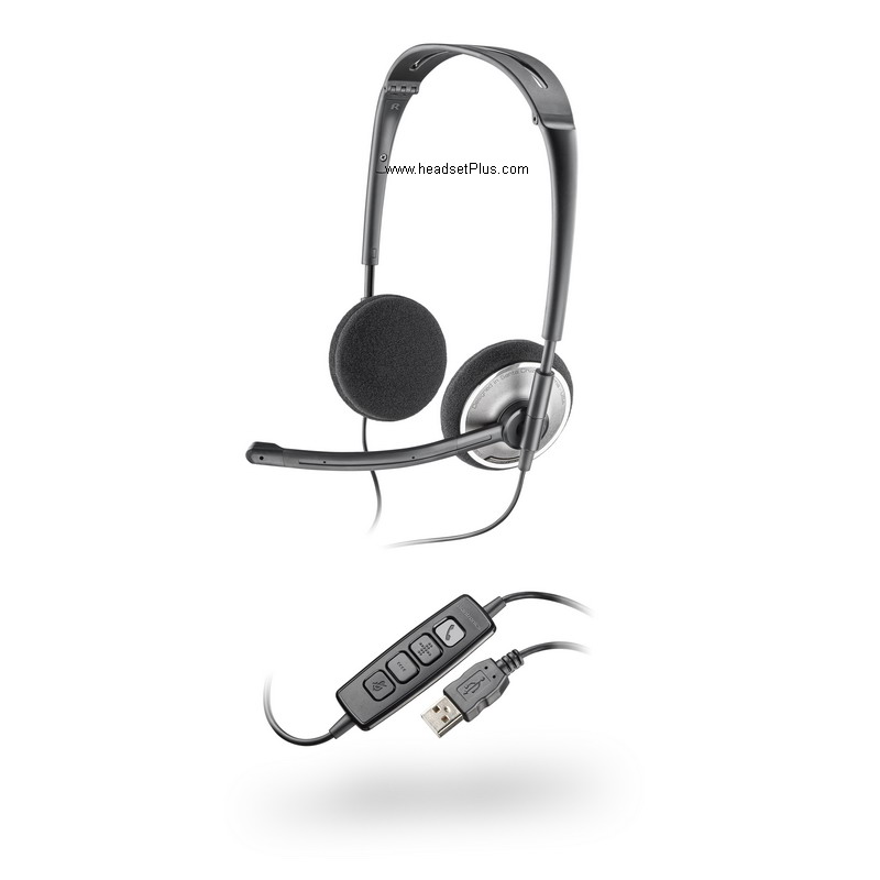 Plantronics Audio 478 Foldable USB Stereo Headset *DISCONTINUED*