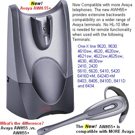 Plantronics Avaya AWH-55 Digital Wireless Headset **DISCONTINUED