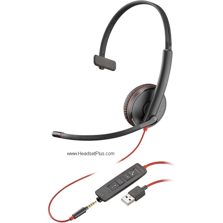 Plantronics Blackwire C3215 USB-A, 3.5mm, MS Skype