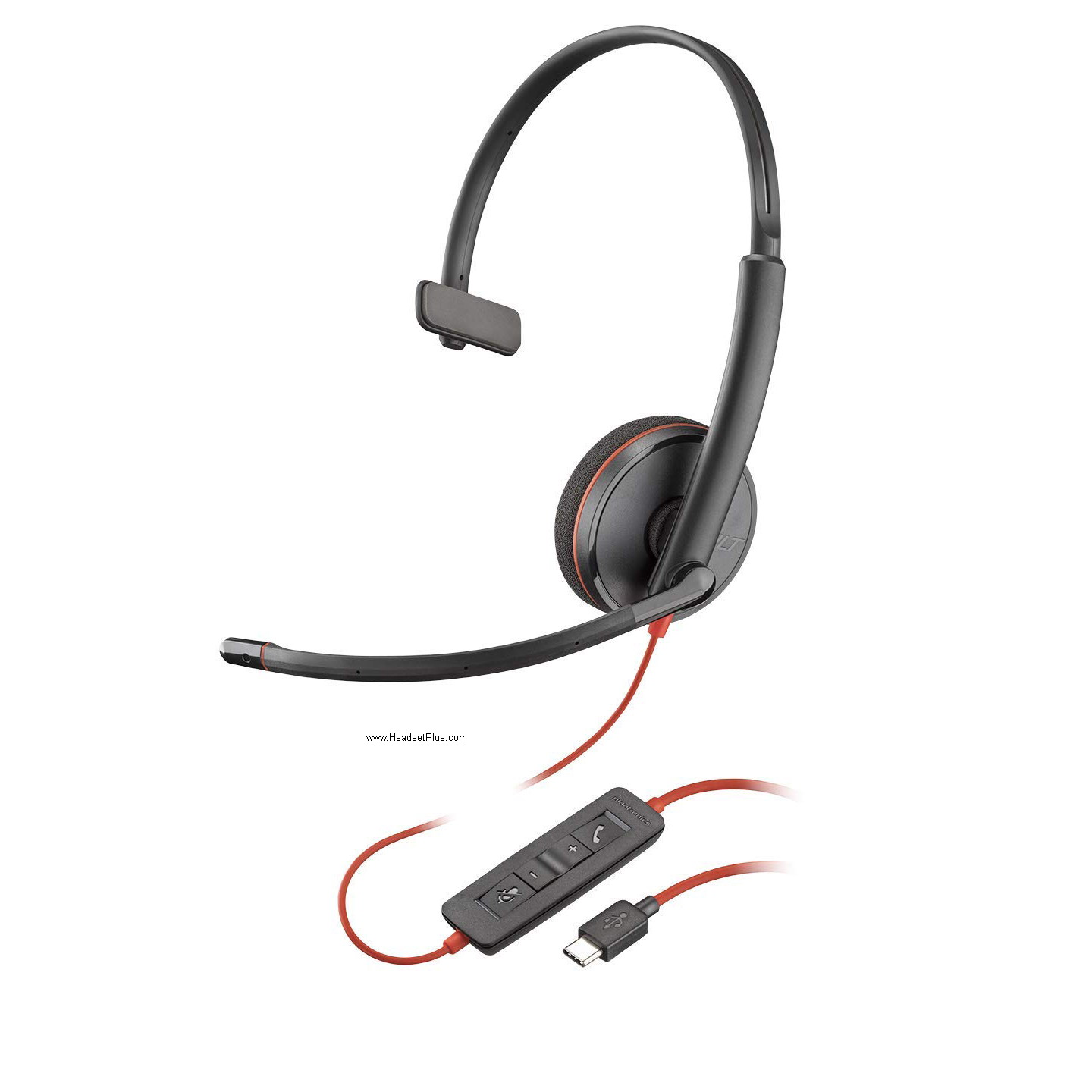 Plantronics 3210 Blackwire USB-C Mono Headset MS Skype