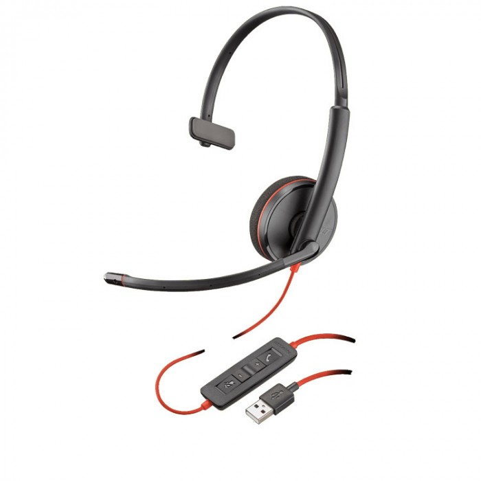 Plantronics C3210 Blackwire USB Mono Headset MS Skype