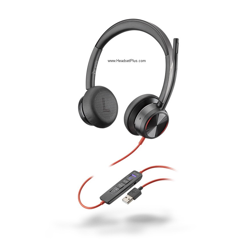Poly Blackwire 8225 USB-A Stereo Wired Headset