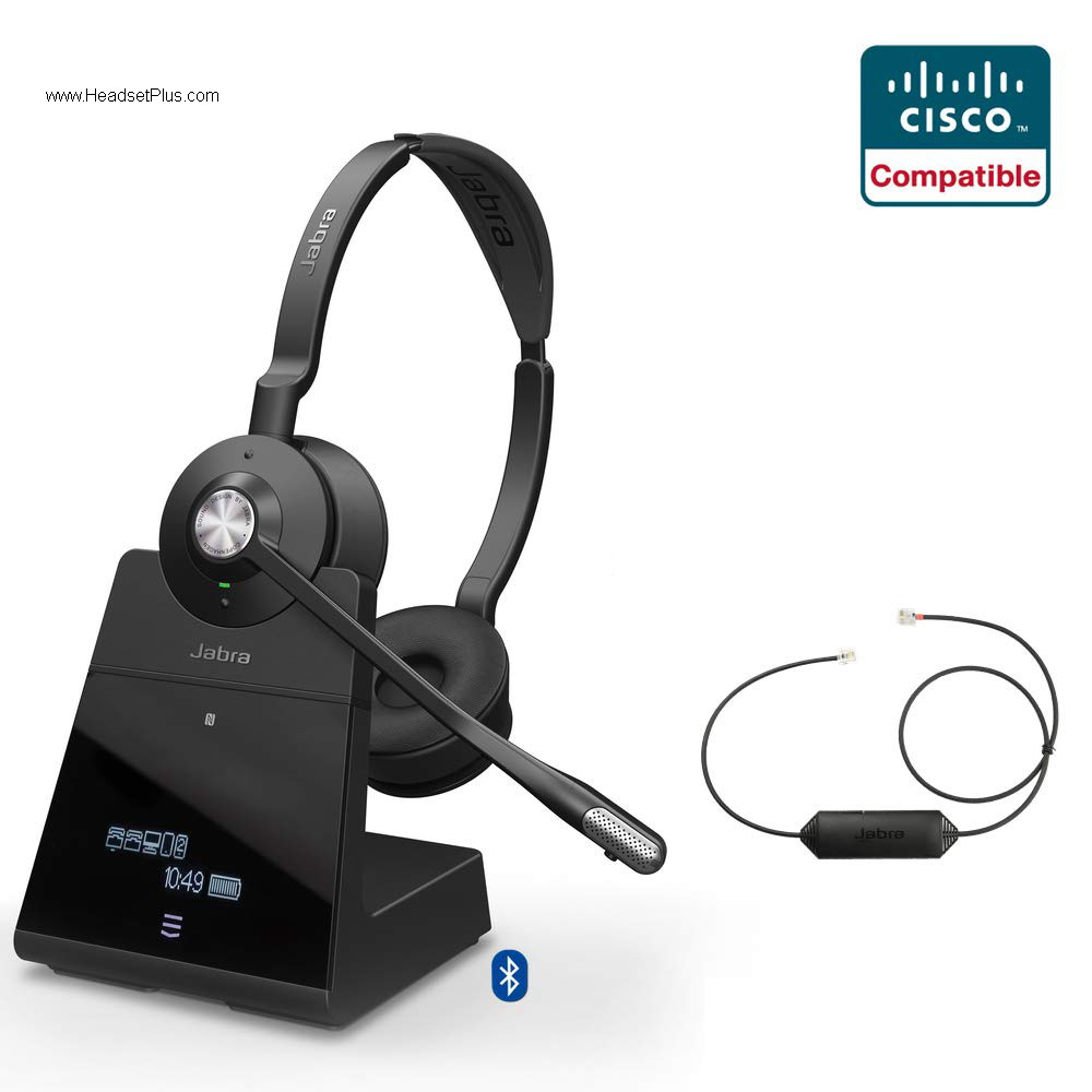 Jabra Engage 75 Stereo + EHS Wireless Headset, Cisco Certified