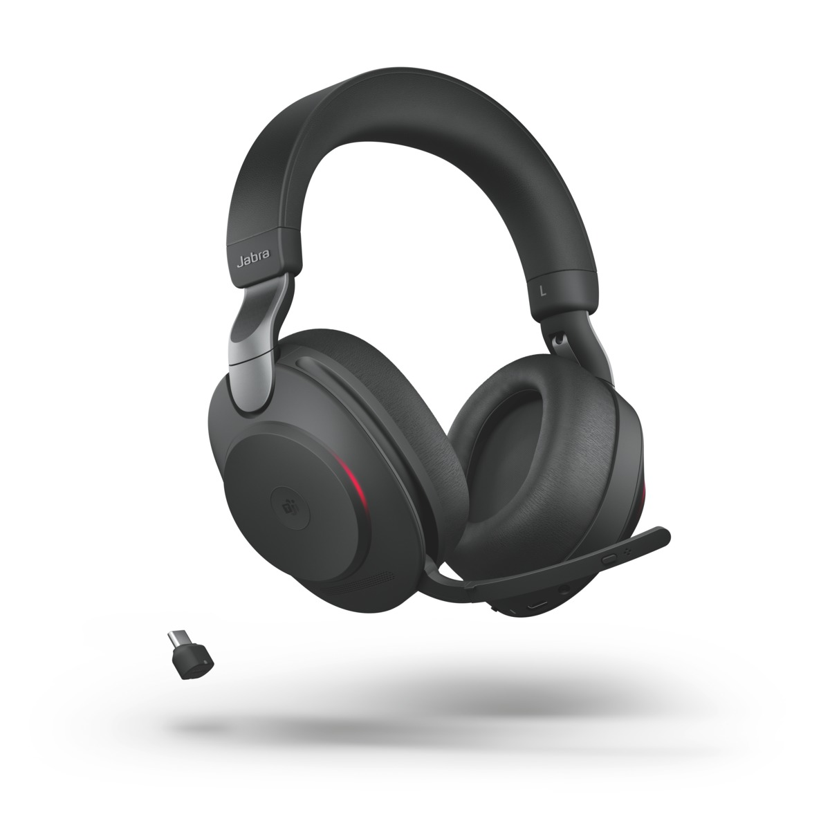 Jabra Evolve2 85 MS Stereo Bluetooth USB-C Headset, MS Teams