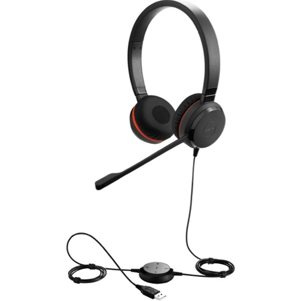 Jabra EVOLVE 20SE MS Stereo USB PC Headset, MS Skype/Teams