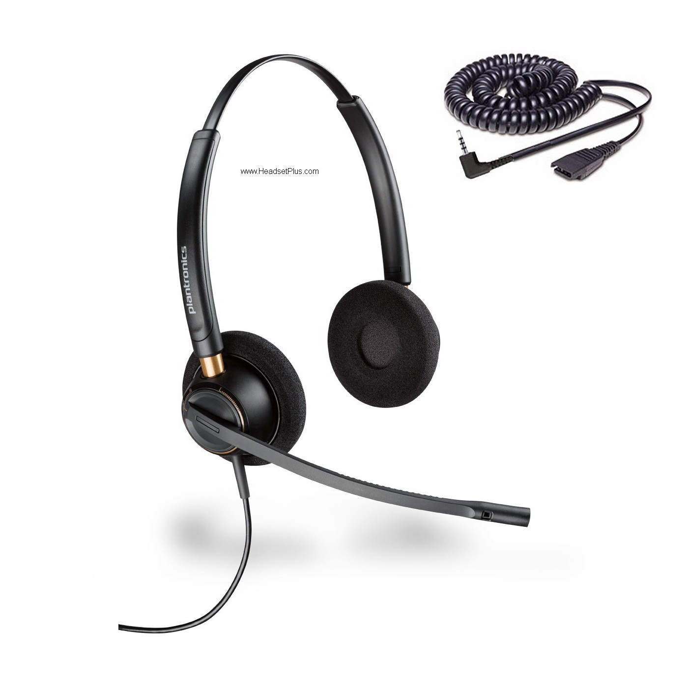 Plantronics HW520-SPA Cisco SPA 5xx 9xx Certified 2.5mm Headset