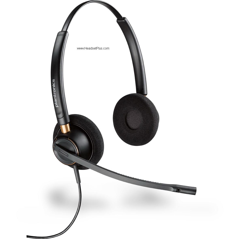 Plantronics HW520 EncorePro Noise Canceling Binaural Headset HAC