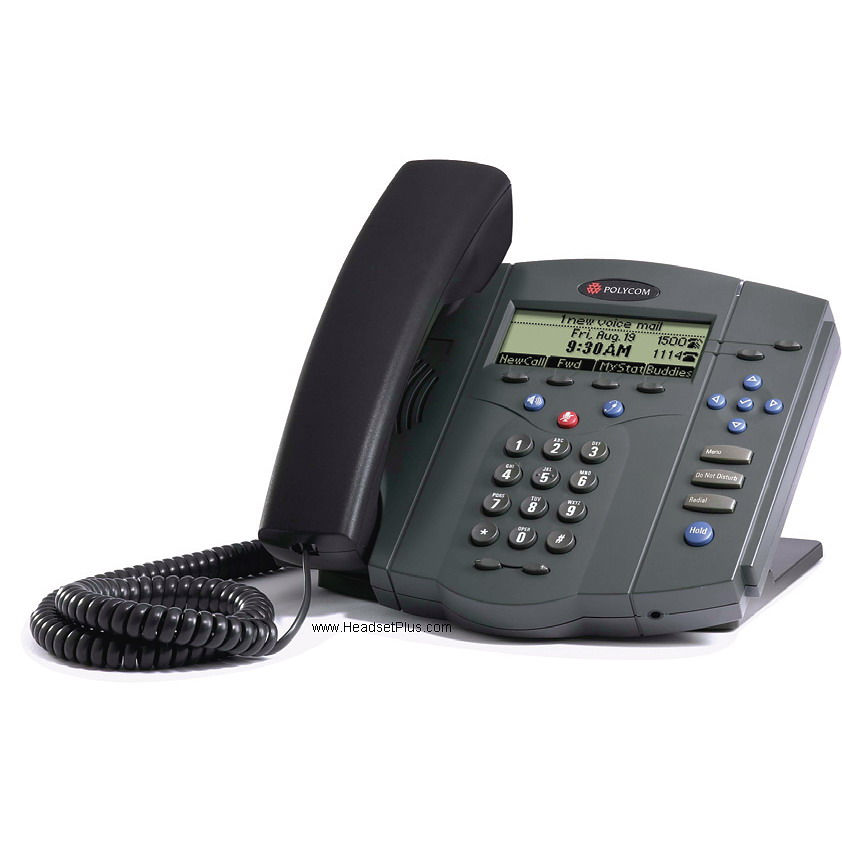 Polycom SoundPoint IP 430 2-line Phone w/PWR SUPLY *Discontinued