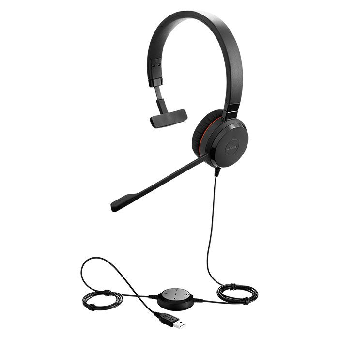 Jabra EVOLVE 20SE MS Mono USB Headset for MS Skype
