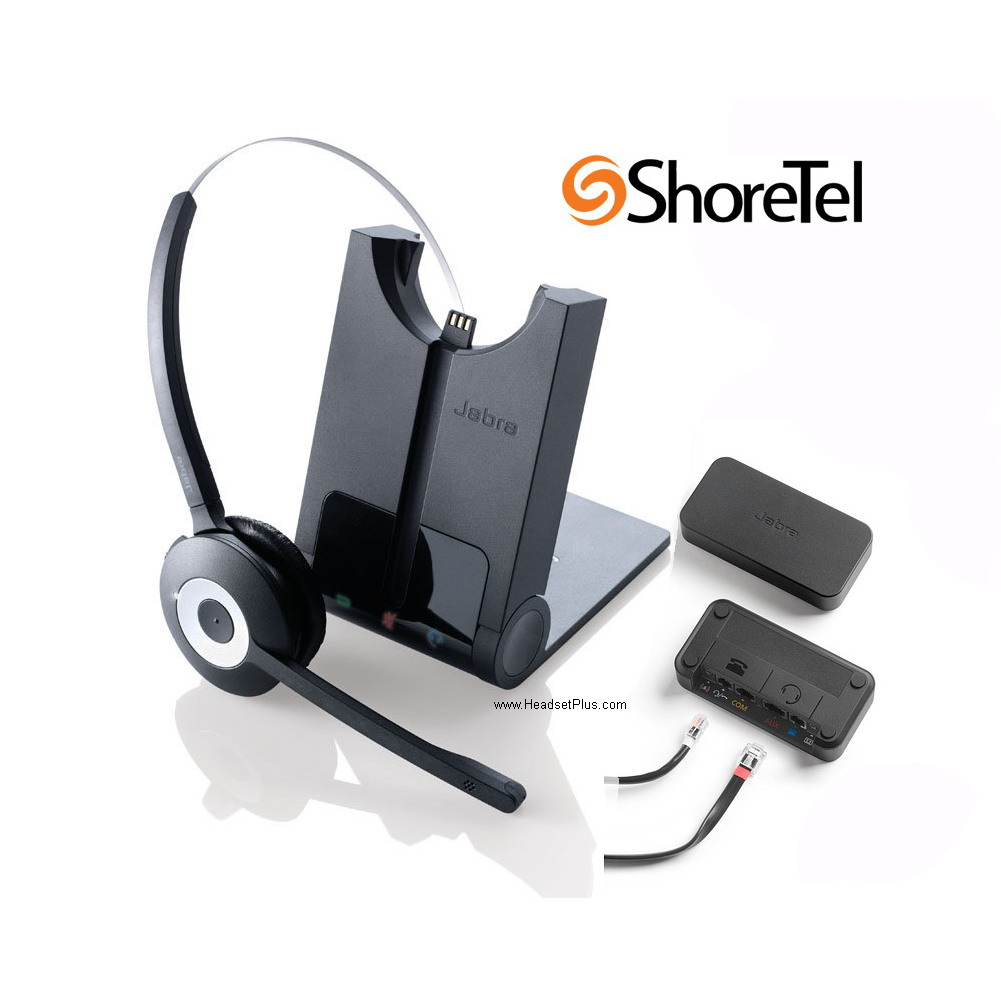 908cf7030df JABRA Pro 920 Mono Shoretel IP Phone Wireless Headset EHS Remote Bundle