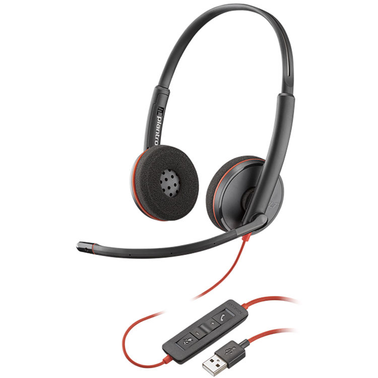 Plantronics C3220 Blackwire Stereo USB Headset MS Skype