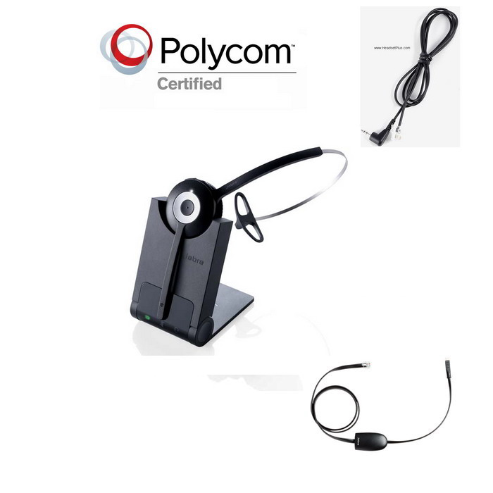 Jabra Pro 920+EHS Polycom 320 321 330 331 Wireless Bundle