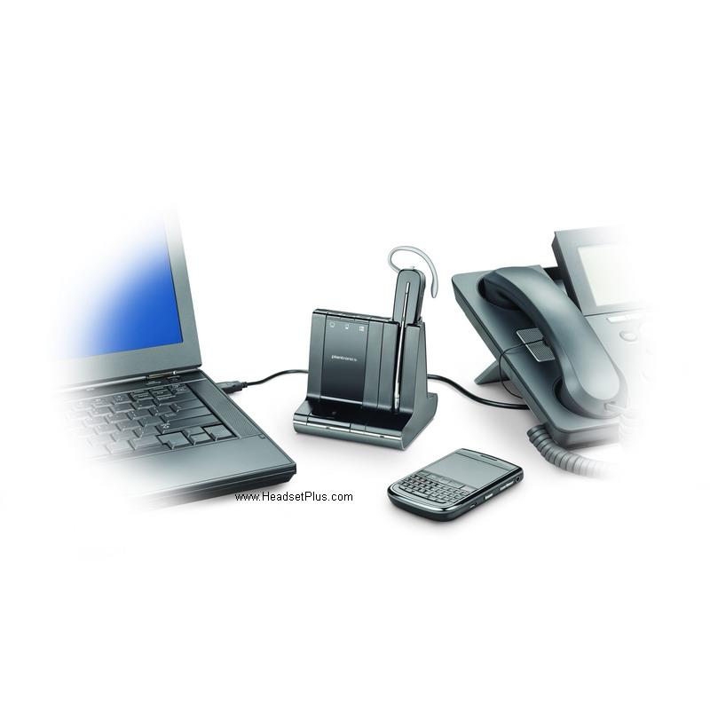 Plantronics Savi W740 Wireless Headset WO2, W02 83542-01 700 series