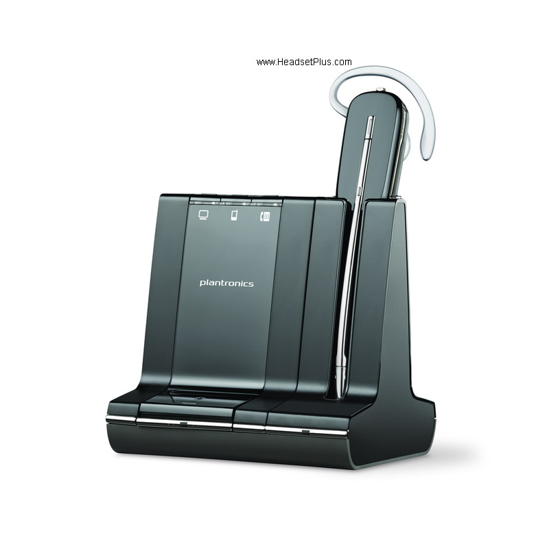 Plantronics Savi W745 Wireless Headset w/unlimited Talk Time