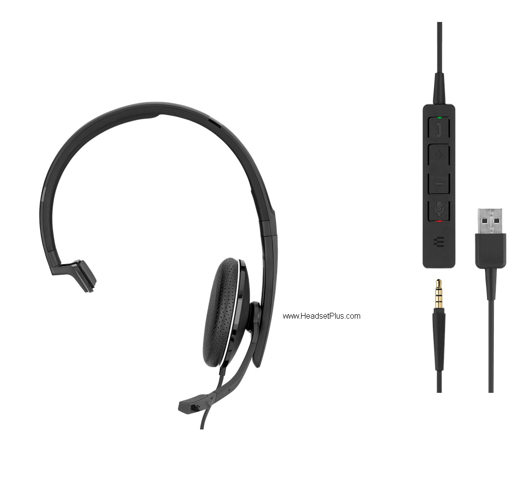 Sennheiser SC 135 USB-A and 3.5mm Mono Headset, MS Teams Cert