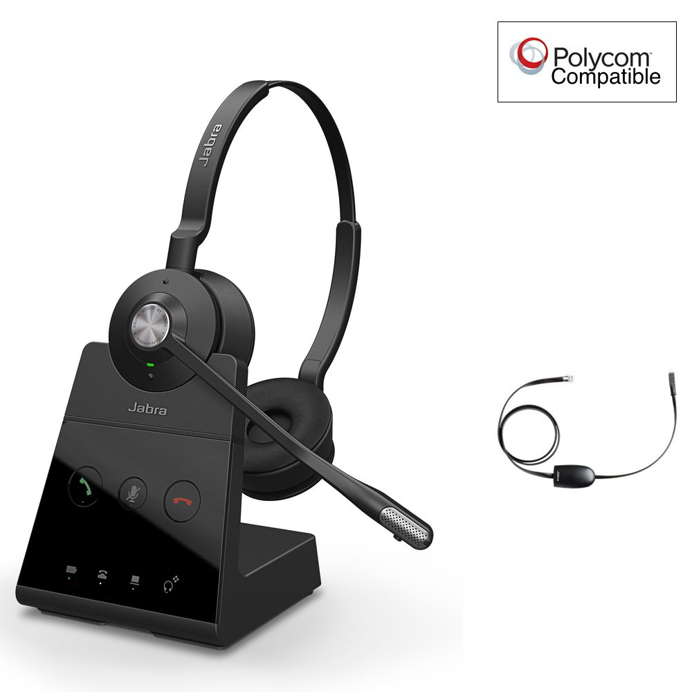 Jabra Engage 75 Stereo + EHS Wireless Headset Polycom Certified